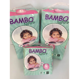 Bambo size 6 nappies
