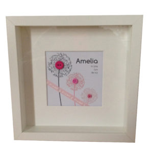 Personalised keepsake frame for a girl