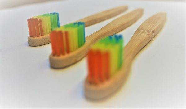 environmental bamboo toothbrush rainbow organic family set