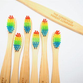 bundle eco toothbrush rainbow bamboo
