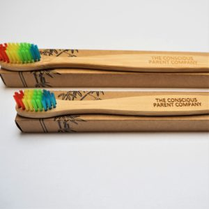 eco bamboo toothbrush set one adult one child