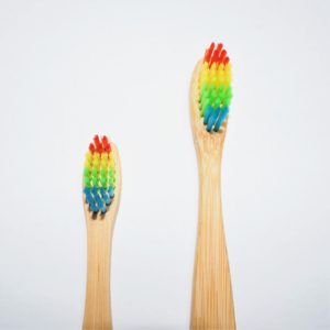 eco friendly toothbrush rainbow bamboo