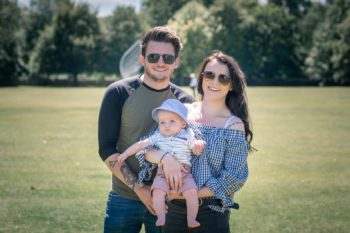 being a parent mum, dad and their baby boy