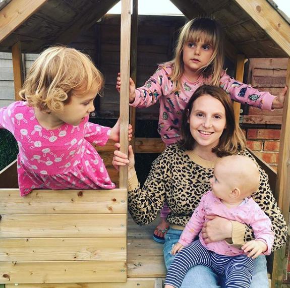 Mum surviving with her three little girls
