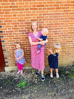 mum surviving and her three little girls