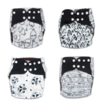 A single nappy from the Marvellous Monochrome range